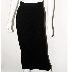 Midi Woven Pattern Skirt